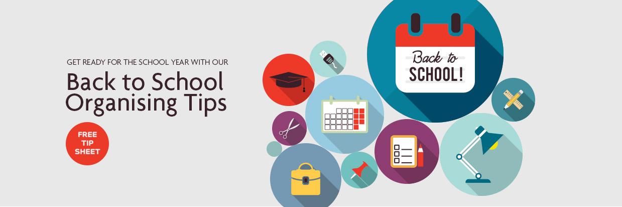 Organising Students Back to School Checklist banner