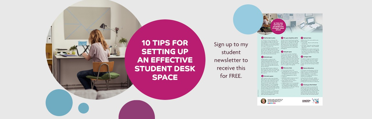 Image for tip sheet sign up for setting up an effective student desk space