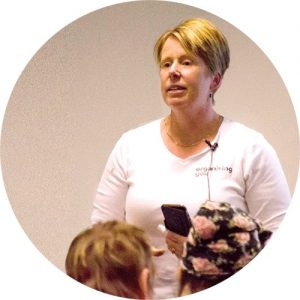 Image of Amanda speaking at a workshop