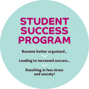 image about the student success program with better organisation leading to increased success and less anxiety