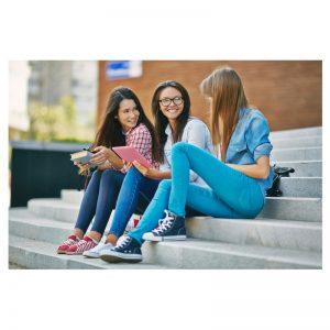 image of 3 girls at school