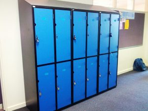 Image of secondary school lockers for transition