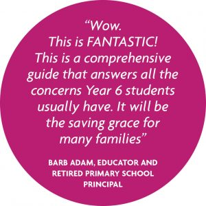 quote from an educator saying that these ebooks will be a great resource to students and families in taking the leap to secondary school