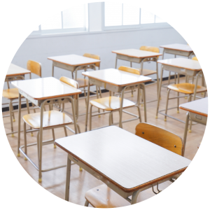 image of tables set up for an exam -Helpful tips to support your child in preparing for exams