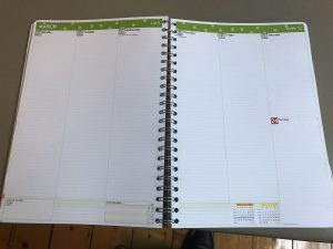 image of a paper diary