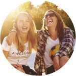 image of girls laughing -10 tips for students learning @ home