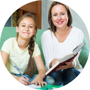 Image of mother and daughter talking - Going back to school after learning @ home - Organising Students